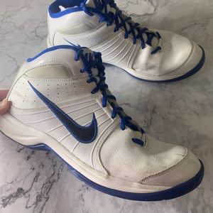 Nike White and Blue High Tops Sneakers 11